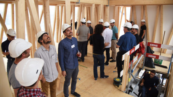 Impression of the DFAB HOUSE topping out ceremony